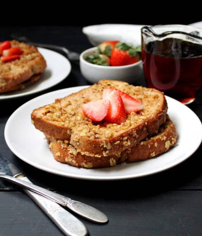 bánh mì chay Pháp nướng