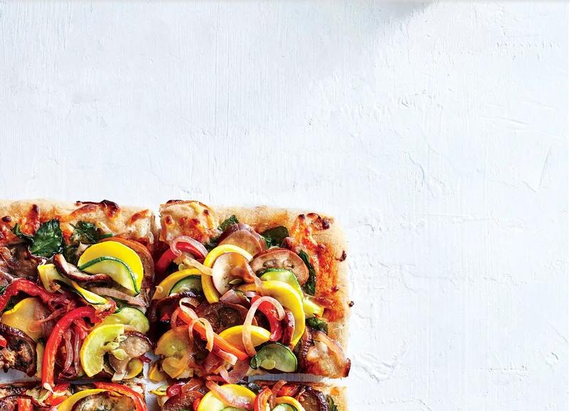 banh pizza chay