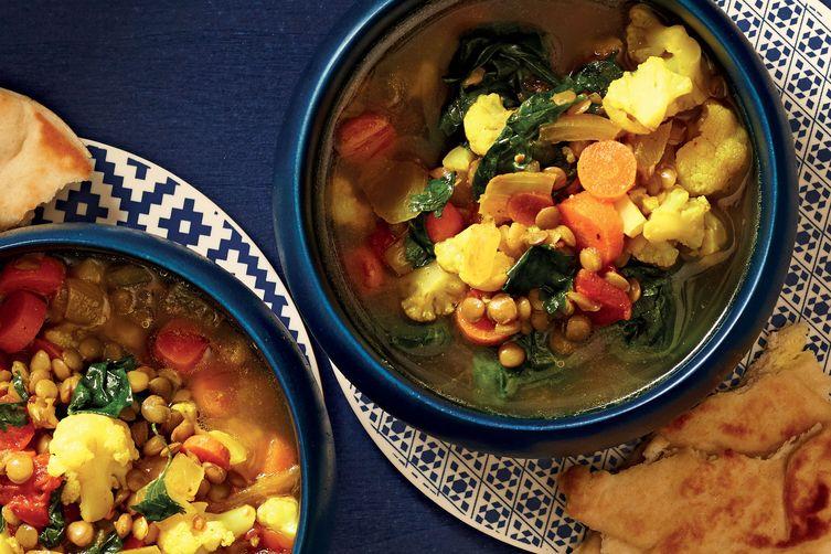Món hầm chay - súp đậu gà chua cay - Vị Lai