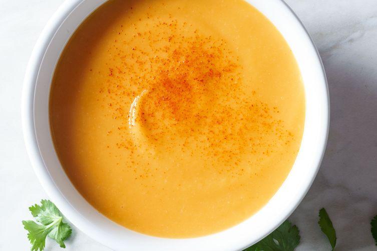 súp khoai lang chay Vị Lai - món chay hầm